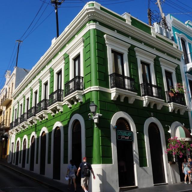 """""""Classic building in San Juan"""" stock image"""