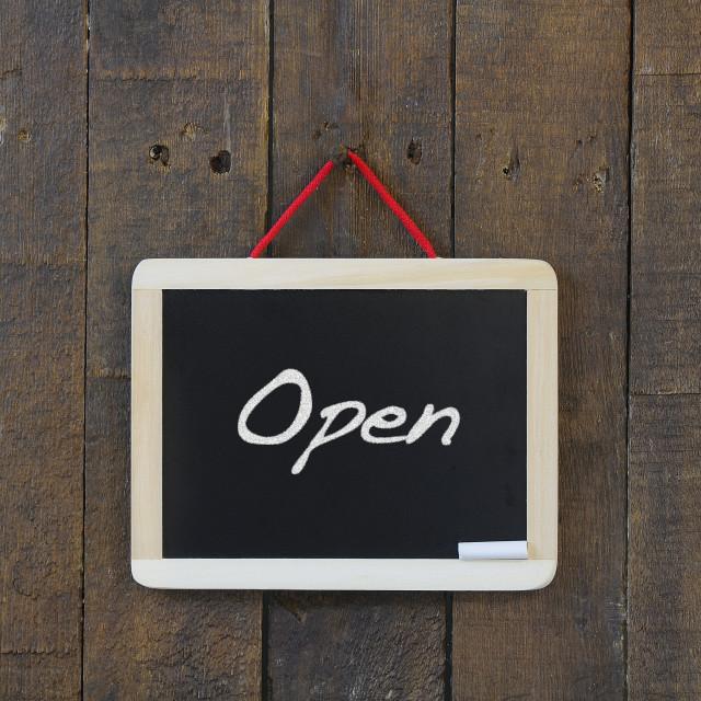 """""""Open blackboard."""" stock image"""