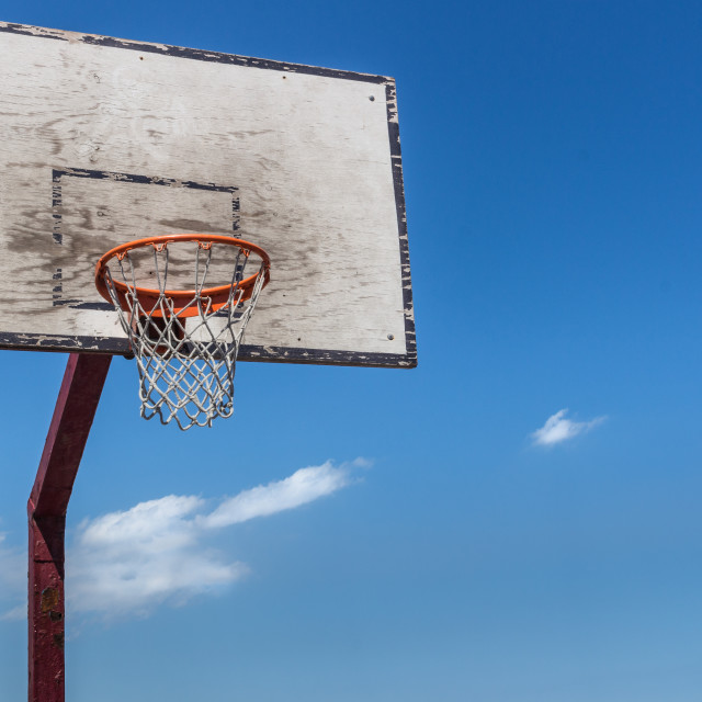 """""""The backboard basketball"""" stock image"""