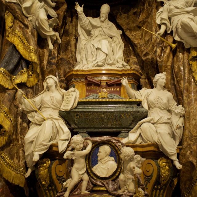 """""""Cappella Ludovisi"""" stock image"""