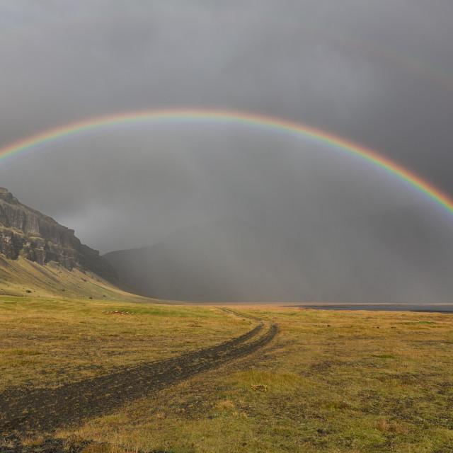 """under the rainbow"" stock image"
