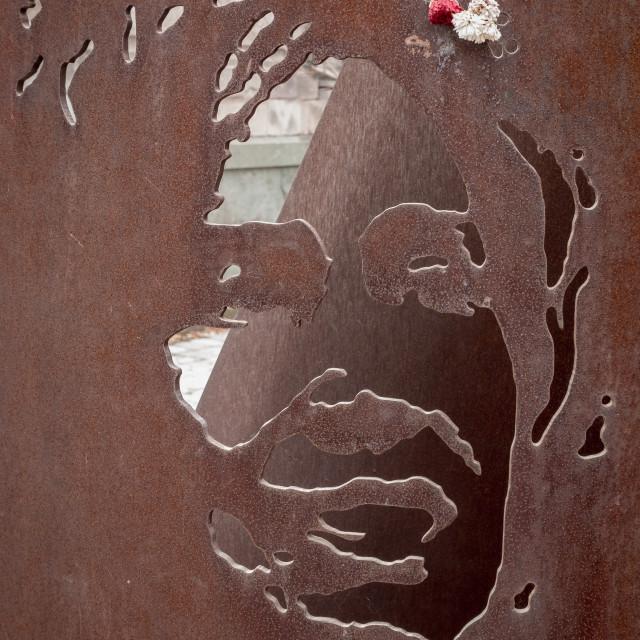 """Memorial to Gladys del Carmen Marín Millie, National Cemetery, Santiago, Chile"" stock image"