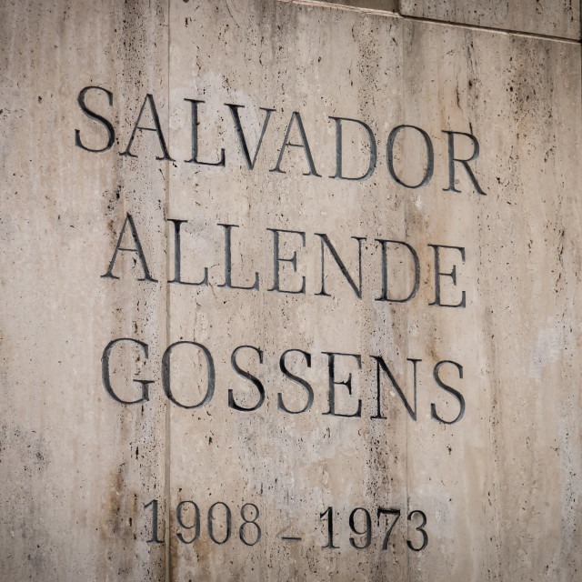 """""""Grave of Salvador Allende, National Cemetery, Santiago, Chile"""" stock image"""