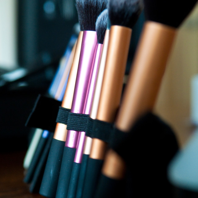 """Makeup Brushes"" stock image"