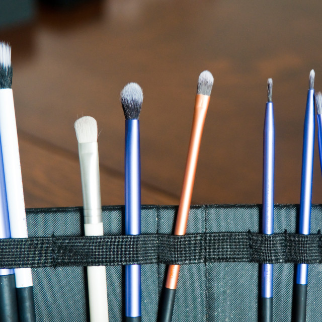 """Beautician's Brushes"" stock image"