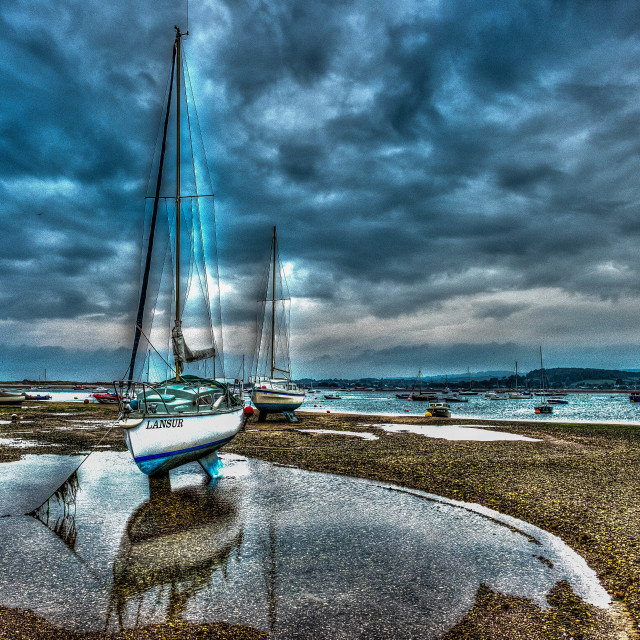 """""""Low Tide"""" stock image"""