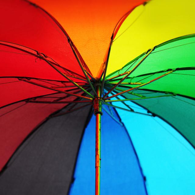 """""""Rainbow Umbrella"""" stock image"""