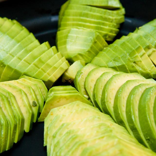 """Sliced Avocado"" stock image"