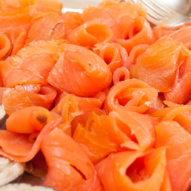 """""""Smoked Salmon"""" stock image"""