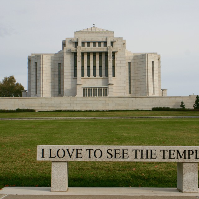 """Cardston Alberta Temple"" stock image"