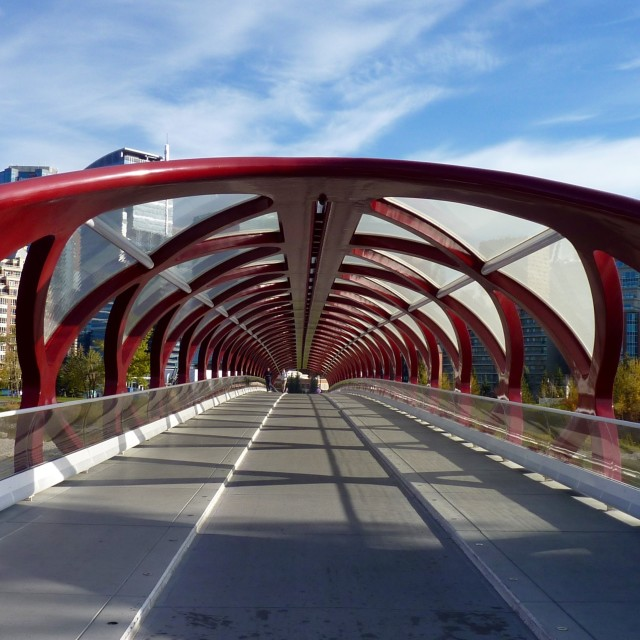 """Peace bridge Calgary"" stock image"