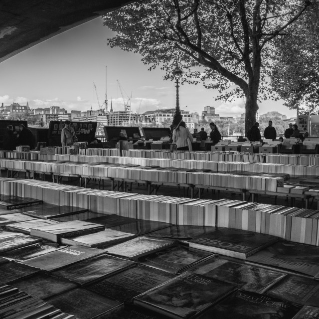 """Southbank Book Market"" stock image"