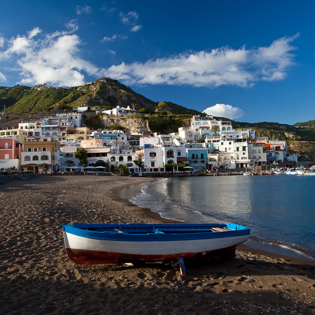 """Ischia S.Angelo fishing village 2"" stock image"