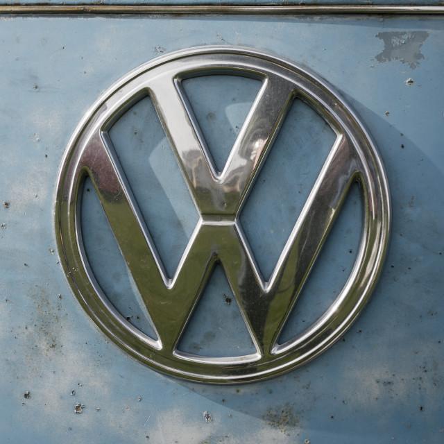 """""""Volkswagen VW Badge"""" stock image"""