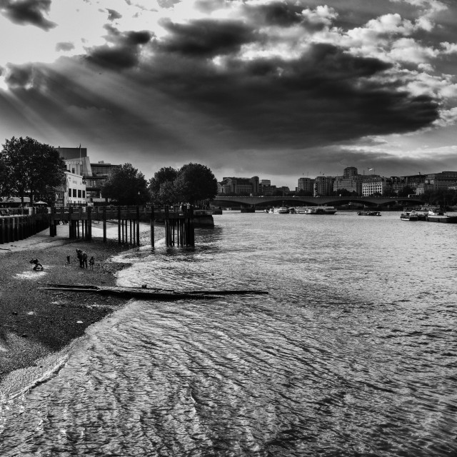 """Thames Highlights"" stock image"
