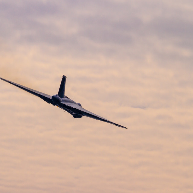 """Avro Vulcan Farewell flight"" stock image"
