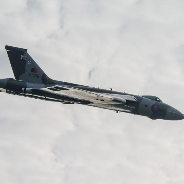 """""""V-Bomber over Popham"""" stock image"""
