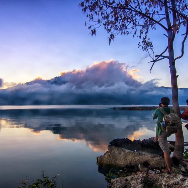 """Batur Lake"" stock image"