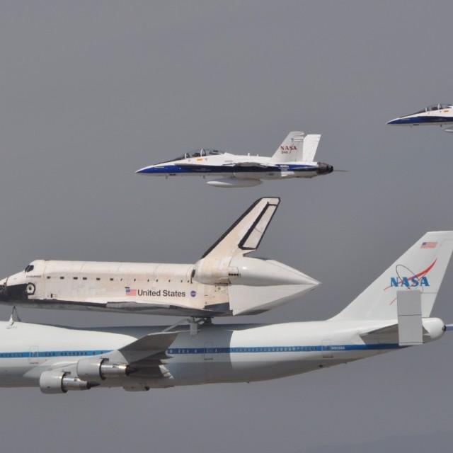 """Space Shuttle Last Flight"" stock image"