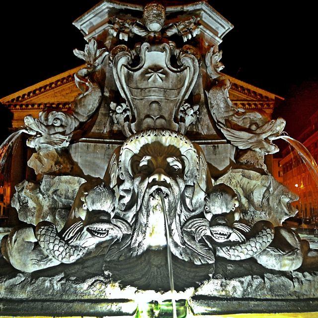 """""""Fontana di piazza della Rotonda"""" stock image"""