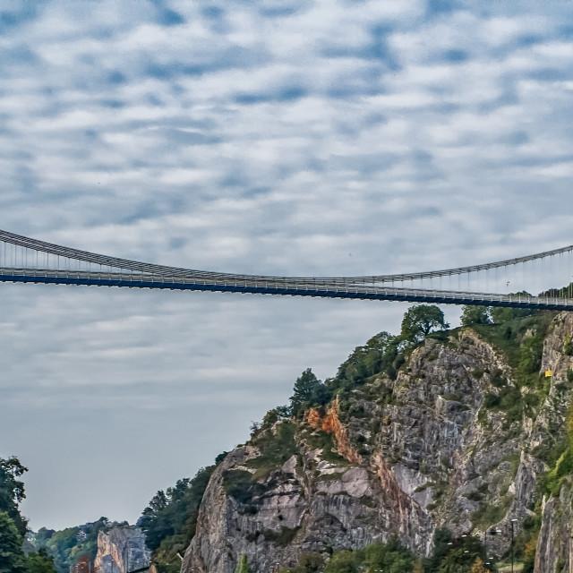 """""""Clifton Suspension Bridge, Bristol"""" stock image"""