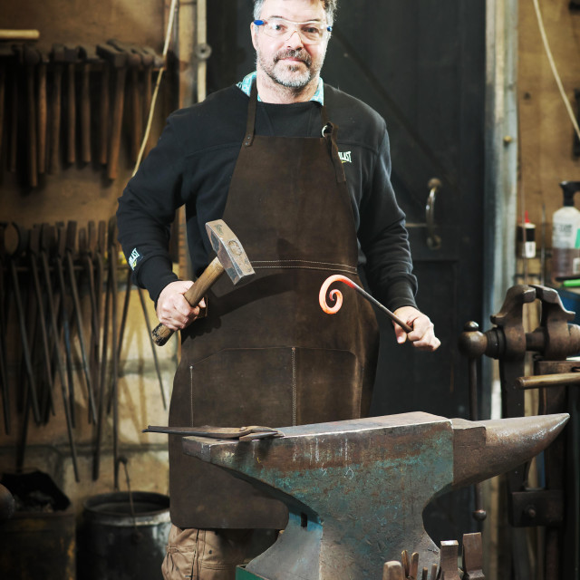 """The Modern Day Blacksmith"" stock image"