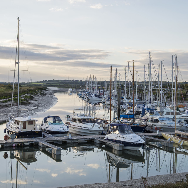 """Yacht Haven North Fambridge (I)"" stock image"