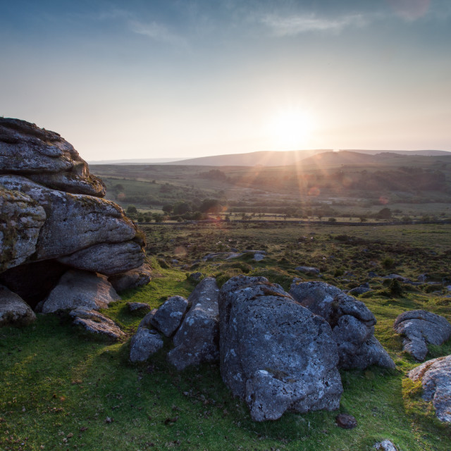 """Dartmoor Sunset"" stock image"