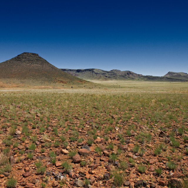 """deserted landscape in Namibia, Africa"" stock image"