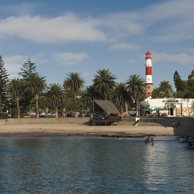 """Lighthouse and Swakopmund museum"" stock image"
