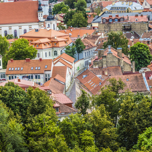 """The Old Town of Vilnius, Lithuania"" stock image"
