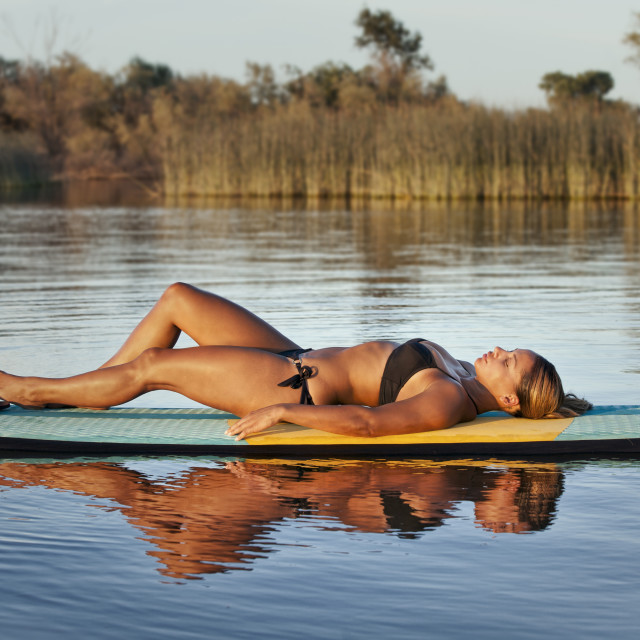 """""""Resting on a Paddle Board"""" stock image"""