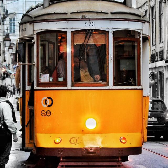 """Lisbon Tram 28"" stock image"