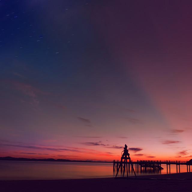 """Colors of nature pre sunrise"" stock image"