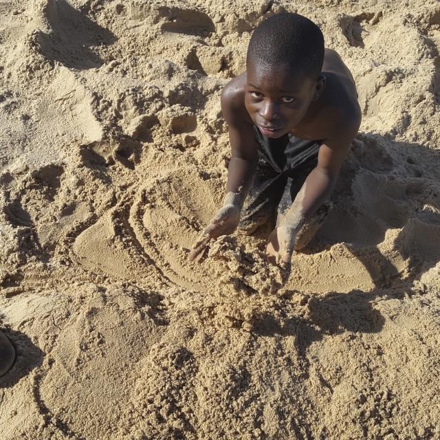 """""""Boys on the beach"""" stock image"""