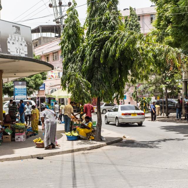"""Dar es Salaam - Street Corner"" stock image"