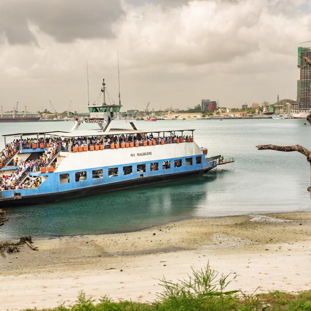 """Dar es Salaam - Ferry arrival"" stock image"