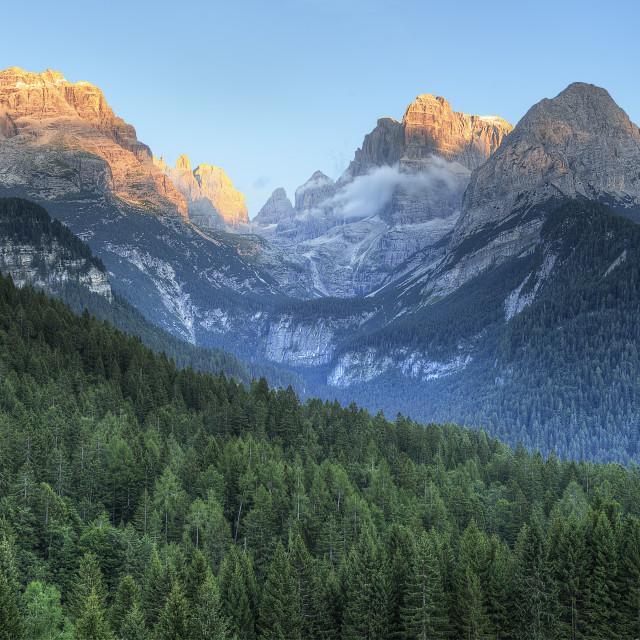 """""""Dolomites at Sunset"""" stock image"""