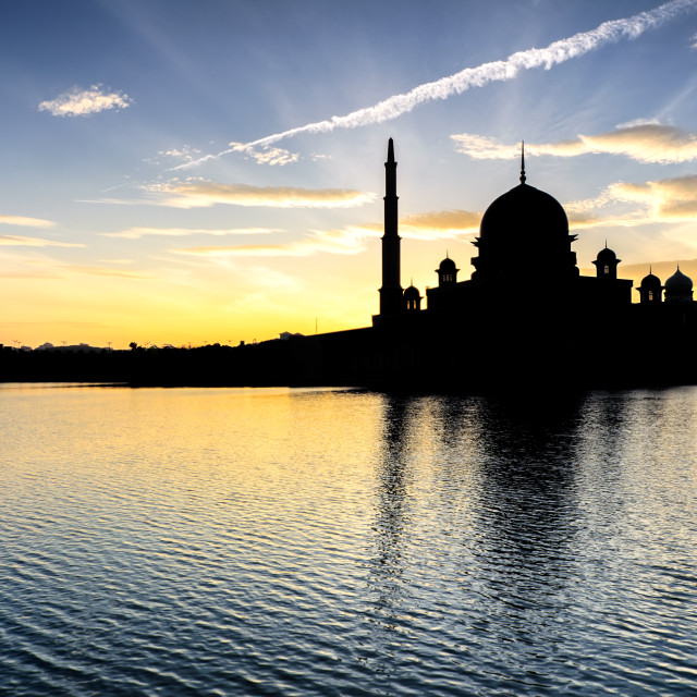 """""""Silhouette of Putra Mosquev"""" stock image"""