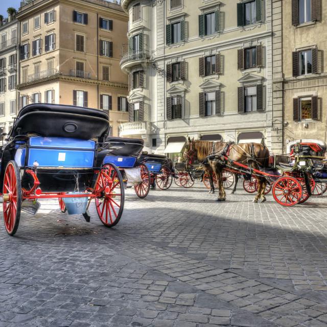 """""""Piazza di Spagna in Rome"""" stock image"""
