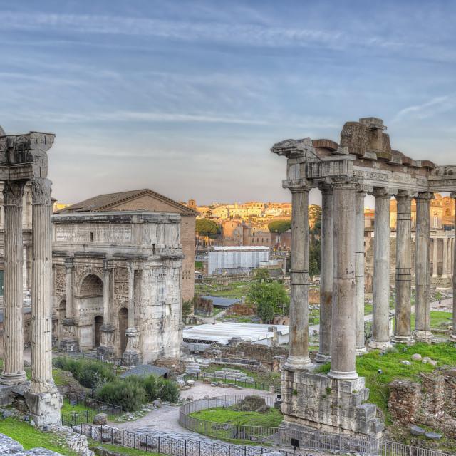 """Roman Forum Sunset"" stock image"