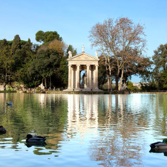 """Villa Borghese Lake in Rome"" stock image"