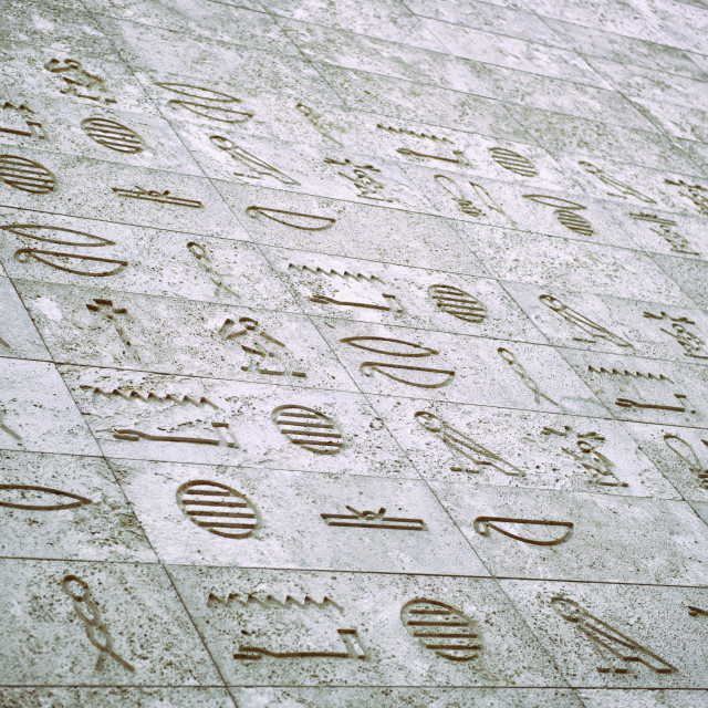 """Egyptian Inscription"" stock image"