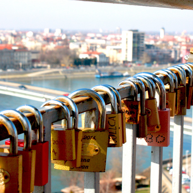 """""""a lock as a symbol of everlasting love"""" stock image"""
