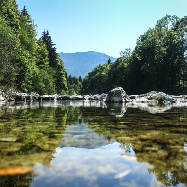 """""""River Reflection"""" stock image"""