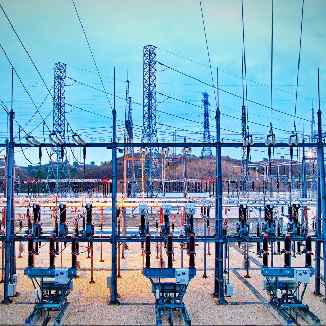 """Electric power substation"" stock image"