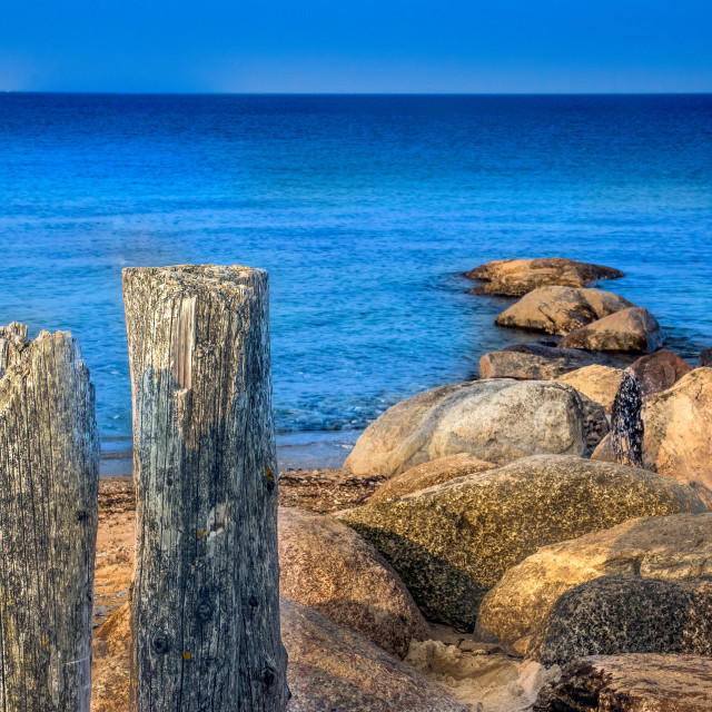 """""""Posts at the Beach"""" stock image"""