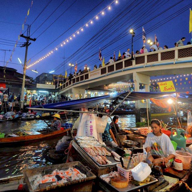 """""""Amphawa Floating Market"""" stock image"""
