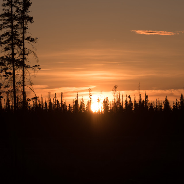 """Northern Sunset"" stock image"