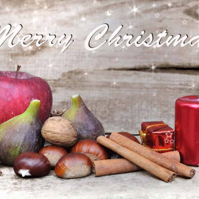 """""""Christmas decoration with fruits"""" stock image"""